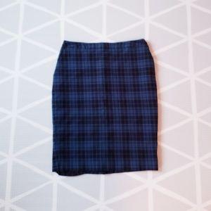 Merona Plaid Pencil Skirt
